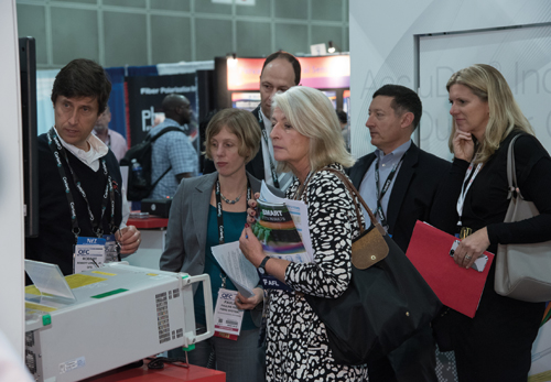 Delegates enjoying the OFC exhibition